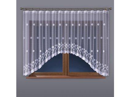 Dekorační oblouková krátká záclona FLORENTYNA 140 bílá 330x140 cm MyBestHome
