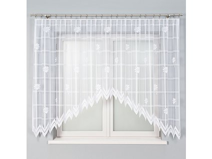 Dekorační oblouková krátká záclona CELOZIA bílá 320x160 cm MyBestHome