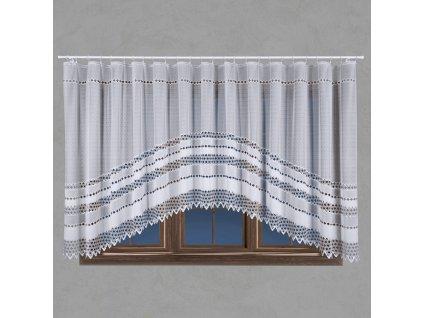 Dekorační oblouková krátká záclona FILOMENA bílá 340x160 cm MyBestHome