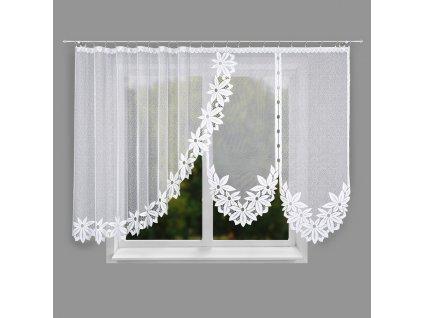 Dekorační oblouková krátká záclona JADWIGA bílá 400x150 cm MyBestHome