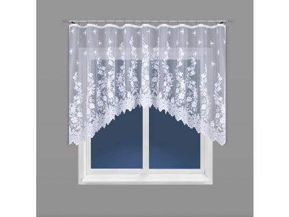 Dekorační oblouková krátká záclona LUDWIKA bílá 320x150 cm MyBestHome