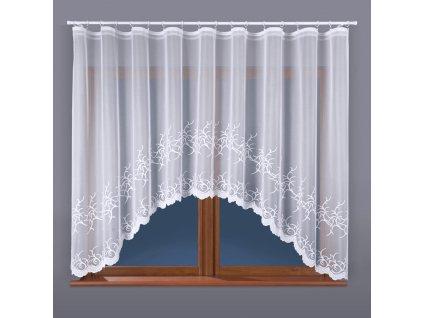 Dekorační oblouková krátká záclona BAKARO bílá 320x160 cm MyBestHome