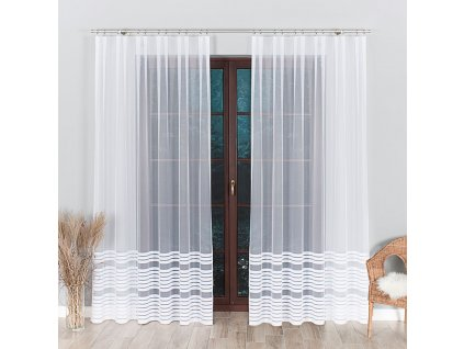 Dekorační vzorovaná záclona TOLA 200 (1 kus) bílá 250x200 cm MyBestHome