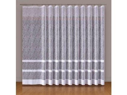 Dekorační vzorovaná záclona WIKTORIA 200 (1 kus) bílá 250x200 cm MyBestHome