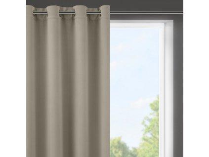 """Dekorační krátký závěs """"BLACKOUT"""" zatemňující LOGOS (1 kus) 140x175 cm, cappuccino, MyBestHome"""