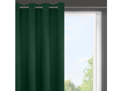 """Dekorační krátký závěs """"BLACKOUT"""" zatemňující LOGOS (1 kus) 140x175 cm, zelená, MyBestHome"""