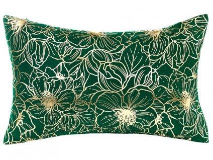 Polštář ADRIA zelená/zlatá s výplní 30x50 cm MyBestHome