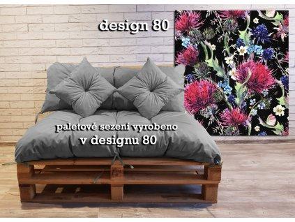 Paletové prošívané sezení vzorované - design 80 - sedák 120x80 cm, opěrka 120x40 cm, 2x polštáře 30x30 cm, Mybesthome