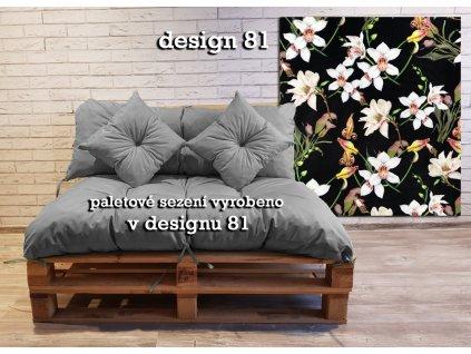 Paletové prošívané sezení vzorované - design 81 - sedák 120x80 cm, opěrka 120x40 cm, 2x polštáře 30x30 cm, Mybesthome