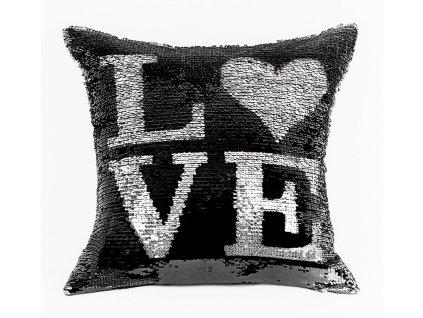 Polštář LOVE bílá/černá 40x40 cm MyBestHome