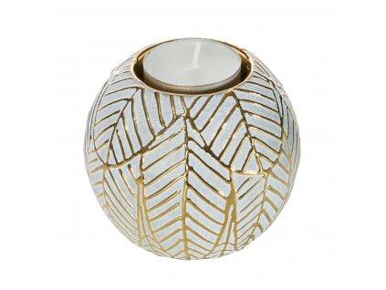 Svícen na čajovou svíčku  PERCY zlatá 9x9x8 cm Mybesthome