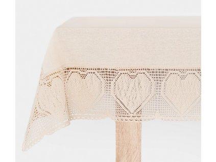 Bavlněný ubrus - běhoun na stůl NELA, více rozměrů, krémová, Mybesthome