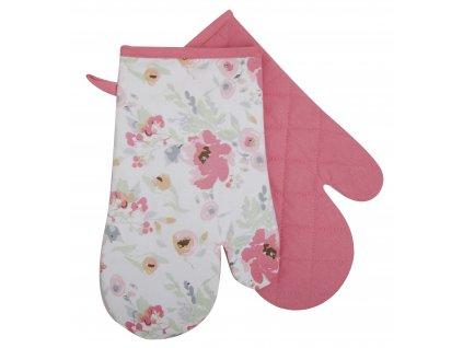 Kuchyňské bavlněné rukavice - chňapky PLANTA růžová, 100% bavlna 19x30 cm Essex