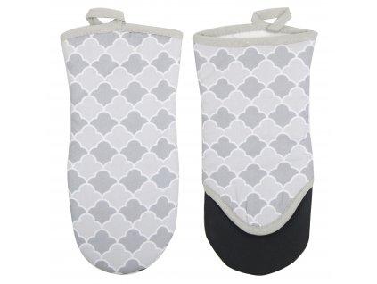Kuchyňská bavlněná rukavice se silikonovou chňapkou VERONA 1 ks, šedá, 100% bavlna 15x30 cm Essex