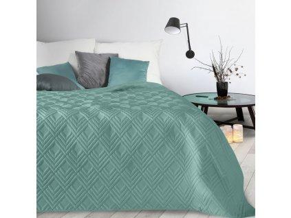 Přehoz na postel SAN LUIZ 220x240 cm tyrkysová Mybesthome