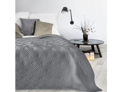Přehoz na postel SAN LUIZ 220x240 cm šedá Mybesthome