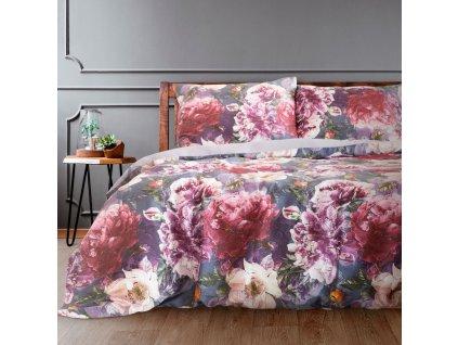 Povlečení MILENA 100% saténová bavlna 1x 200x220 cm, 2x povlak 70x80 cm francouzské povlečení MyBestHome