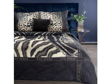 Luxusní povlečení EVA XX. 100% saténová bavlna 1x 200x220 cm, 2x povlak 70x80 cm francouzské povlečení