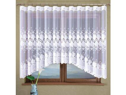 Dekorační oblouková krátká záclona KASJANA bílá 320x160 cm MyBestHome