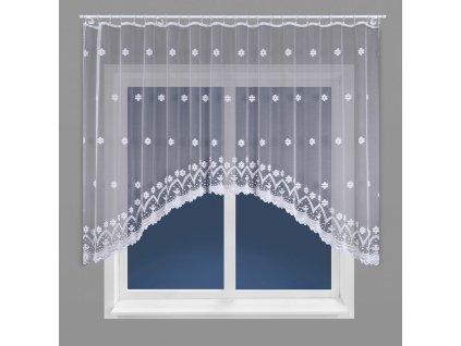 Dekorační oblouková krátká záclona FLORENTYNA 160 bílá 330x160 cm MyBestHome