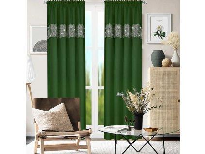 Dekorační závěs s řasící páskou AURORA smaragdová 145x250 cm (cena za 1 kus) MyBestHome