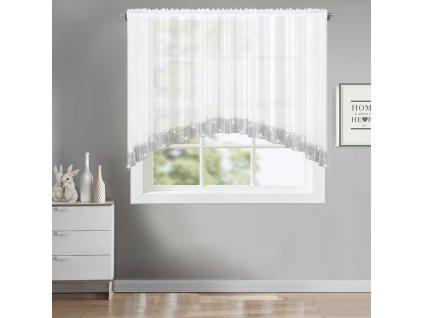 Dekorační krátká záclona se zirkony RACHEL bílá 300x150 cm MyBestHome