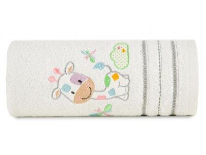 Bavlněný froté ručník s dětským motivem ŽIRAFKA bílá 50x90 cm, 450 gr Mybesthome