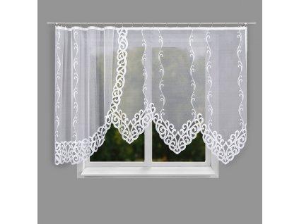 Dekorační oblouková krátká záclona HERMINA 300 bílá 300x160 cm MyBestHome