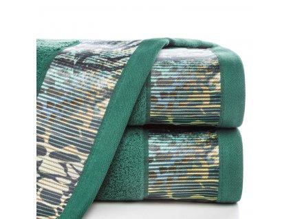 Bavlněný froté ručník s bordurou CARLA 50x90 cm, zelená, 500 gr Eva Minge