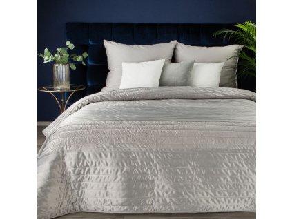 Luxusní přehoz na postel FRODO stříbrná 220x240 cm Mybesthome