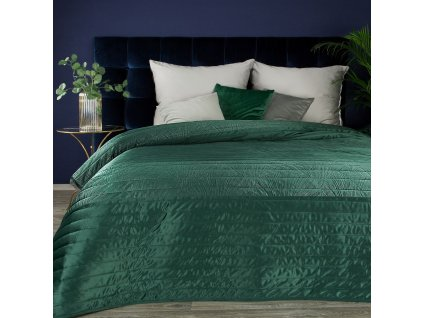 Luxusní přehoz na postel FRODO zelená 220x240 cm Mybesthome