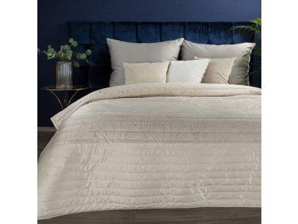 Luxusní přehoz na postel FRODO krémová 220x240 cm Mybesthome