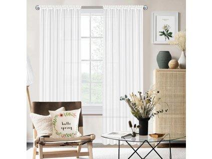 Dekorační voálová záclona JULIA bílá 145x240 cm (cena za 1 kus) MyBestHome