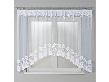 Dekorační oblouková krátká záclona MAGDA 160 bílá 310x160 cm MyBestHome