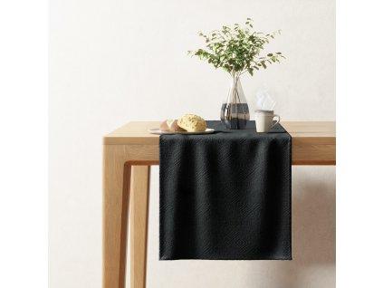 Ubrus - běhoun na stůl LAMBO černá 40x140 cm Mybesthome