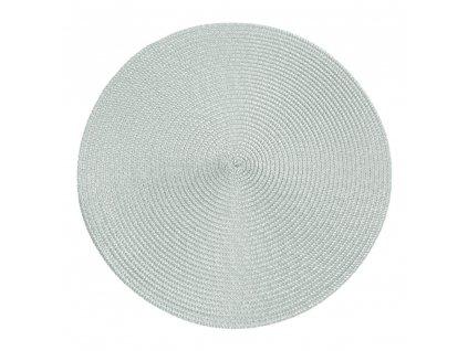 Prostírání kulaté JUDYTA světle šedá Ø 38 cm Mybesthome