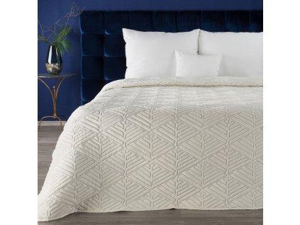Luxusní přehoz na postel DENIS krémová 220x240 cm Mybesthome
