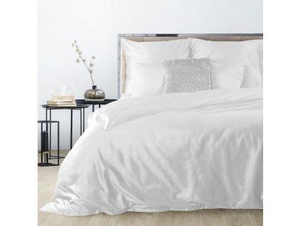 Povlečení DITA 100% saténová bavlna 1x 200x220 cm, 2x povlak 70x80 cm bílá francouzské povlečení MyBestHome