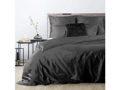 Povlečení DITA 100% saténová bavlna 1x 200x220 cm, 2x povlak 70x80 cm černá francouzské povlečení MyBestHome