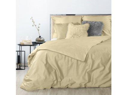 Povlečení DITA 100% saténová bavlna 1x 200x220 cm, 2x povlak 70x80 cm béžová francouzské povlečení MyBestHome