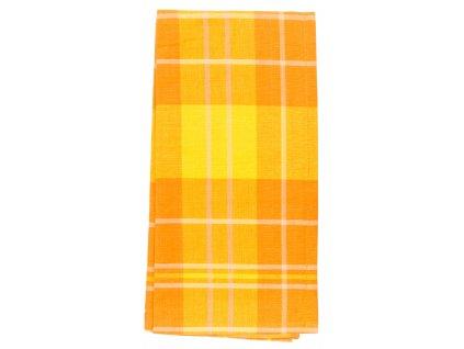 Utěrka bavlněná CUADROS oranžová 45x65 cm Essex