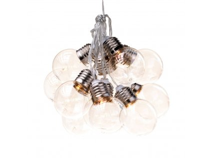 Dekorační světelný řetěz s ozdobnými čirými žárovkami 185 cm