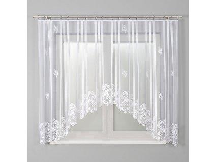 Dekorační oblouková krátká záclona BEATA bílá 340x160 cm MyBestHome