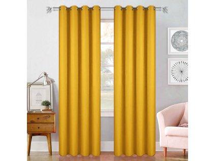 Dekorační závěs ERIC žlutá 145x250 cm (cena za 1 kus) MyBestHome