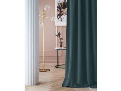 """Dekorační závěs zatemňující LAURA - """"BLACKOUT"""" 140x250 cm, petrolejová (cena za 1 kus) MyBestHome"""