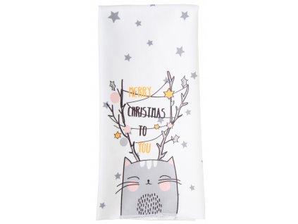 Utěrka SWEET CHRISTMAS, kočka mikrovlákno 38x63 cm Essex