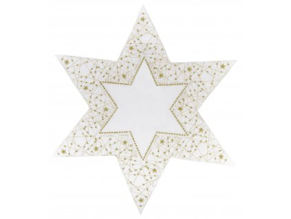 Dekorační ozdobný ubrousek WHITE STAR  Ø 30 cm Essex