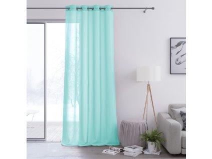 Dekorační záclona s kroužky VILETA tyrkysová 140x250 cm (cena za 1 kus) MyBestHome