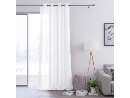 Dekorační záclona s kroužky VILETA bílá 140x250 cm (cena za 1 kus) MyBestHome