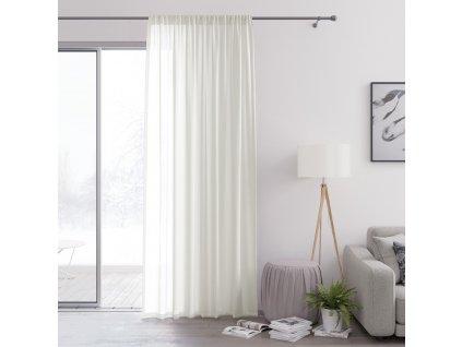 Dekorační záclona s řasící páskou VALIKA krémová 140x250 cm (cena za 1 kus) MyBestHome